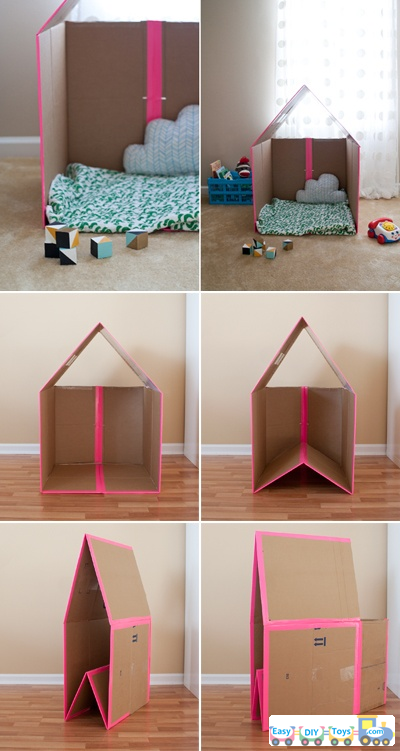 homemade paper toy houses guides
