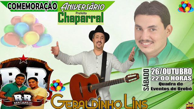 Aniversario Chaparral - Orobó News - Felício Desiner