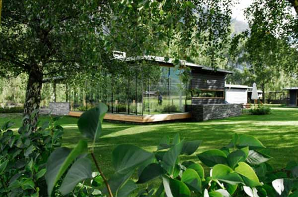 Scandinavian modern glass house green home design modern for Green modern home designs