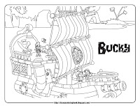 jake and the never land pirates pirate ship coloring pages bucky