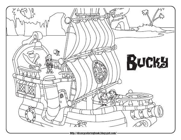 Captain Hook Jake And The Never Land Pirates Coloring Pages