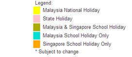 Malaysia 2014 Public Holidays  Malaysia 2014 Calendar