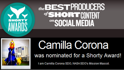 Camilla Corona nominated for Shorty Award
