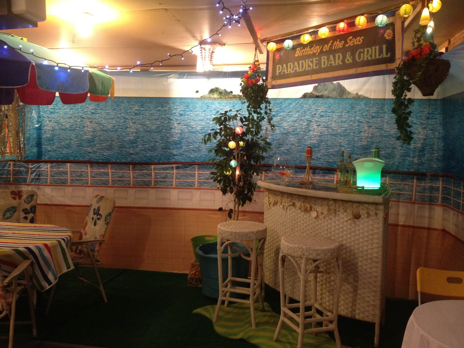 ID Mommy Cruise Themed Birthday Party - Cruise ship theme party