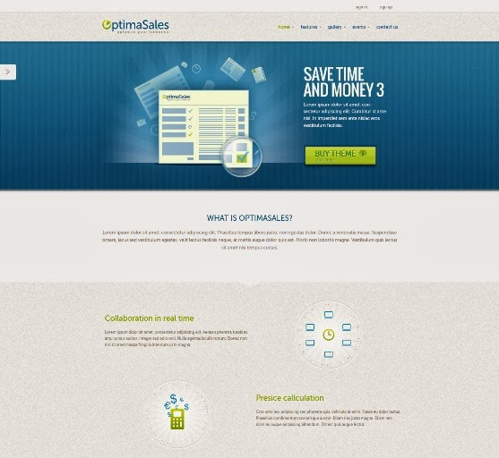 OptimaSales Responsive Joomla Template