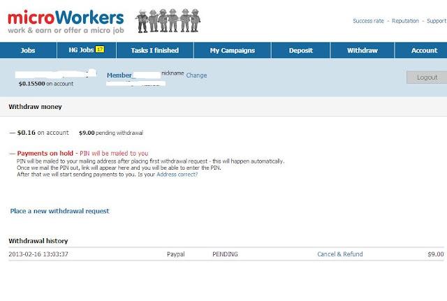 microworkers withdrawal