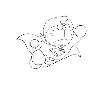 #6 Doraemon Coloring Page