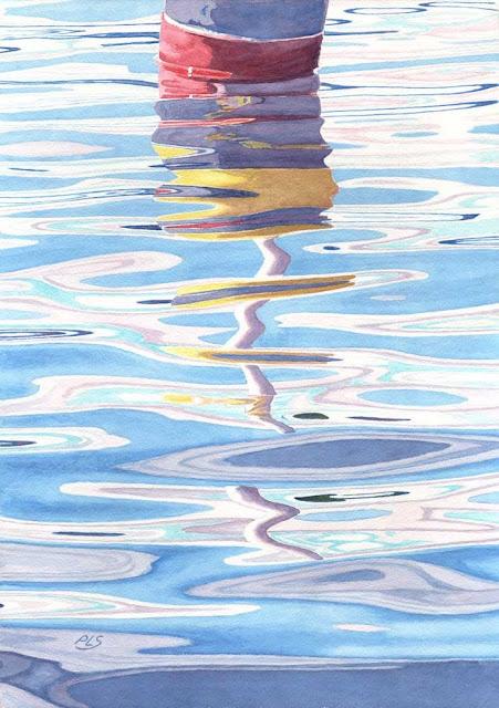 Fluid Dynamics B - Watercolor by Paul Sherman