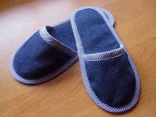 DIY Denim Home Slippers