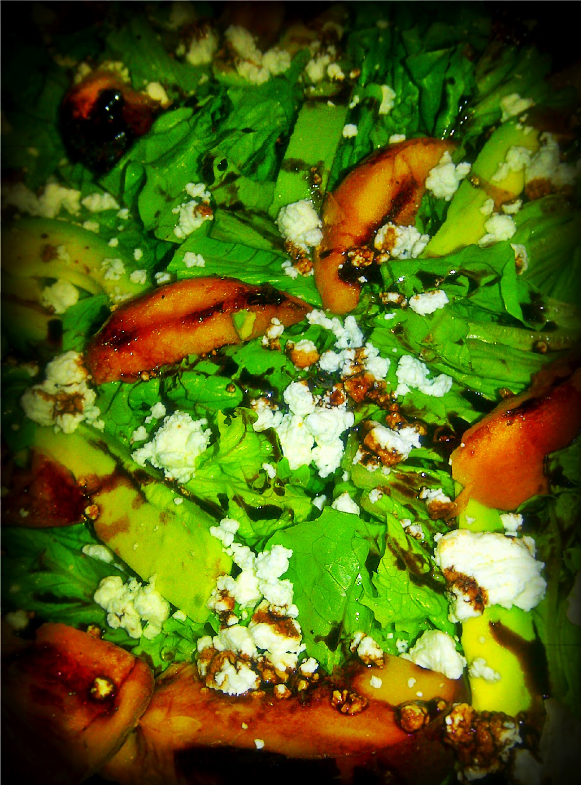Simple Salads: Grilled Peach and Avocado Salad with Goat Cheese with ...