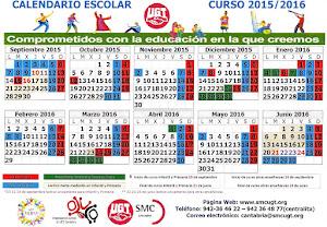 CALENDARIO ESCOLAR - CURSO 2015/ 2016