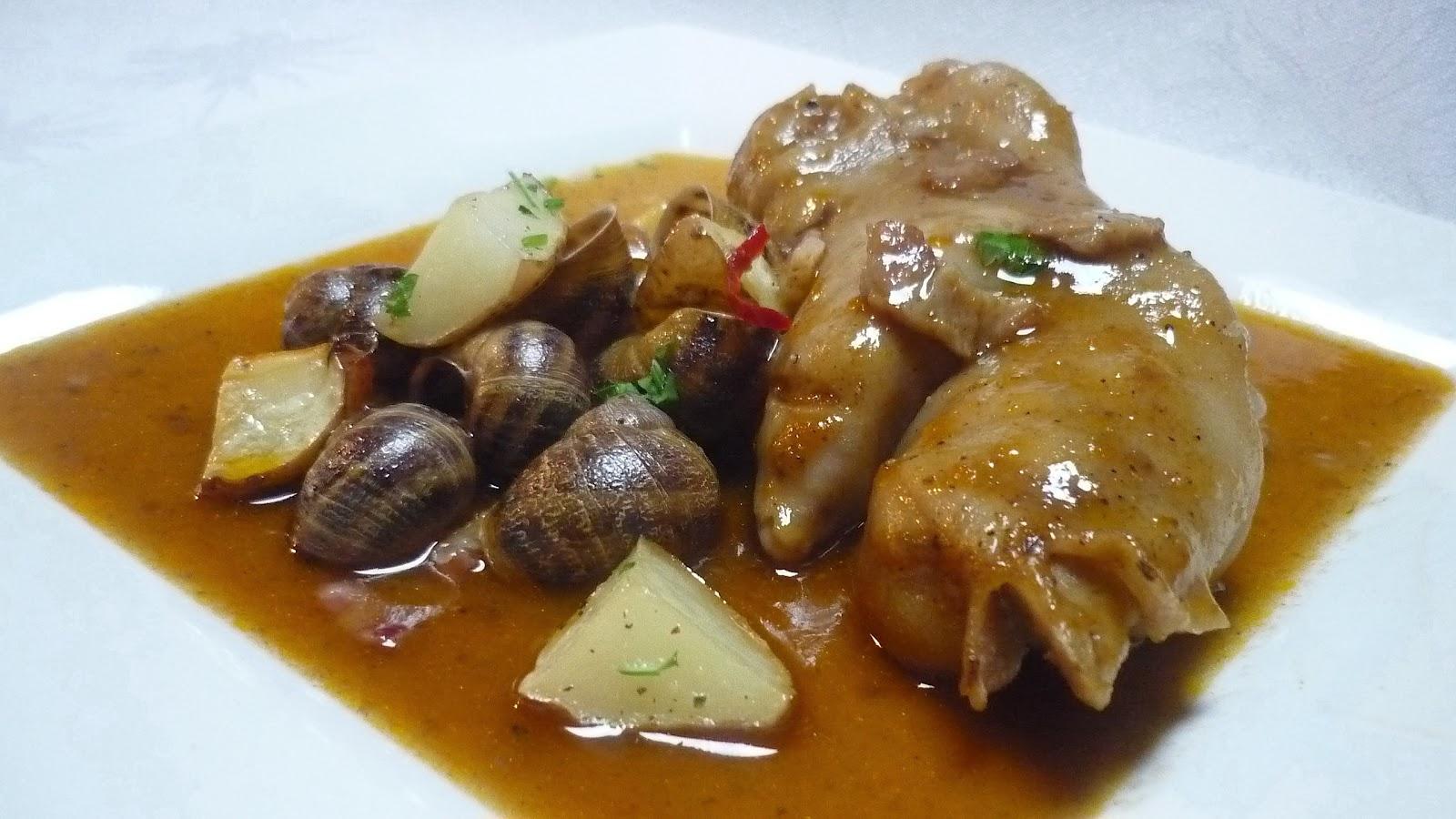 La francesa aux fourneaux pieds de porc et escargots - Cuisiner des pieds de porc ...