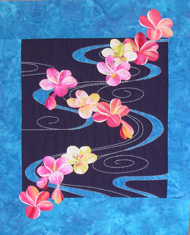 Quilt Inspiration: Exotic flower quilts: Paradise Stitched, by ... : orchid quilt pattern - Adamdwight.com