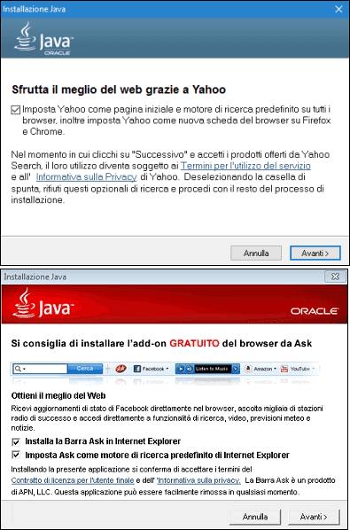 Offerte sponsor installazione Java