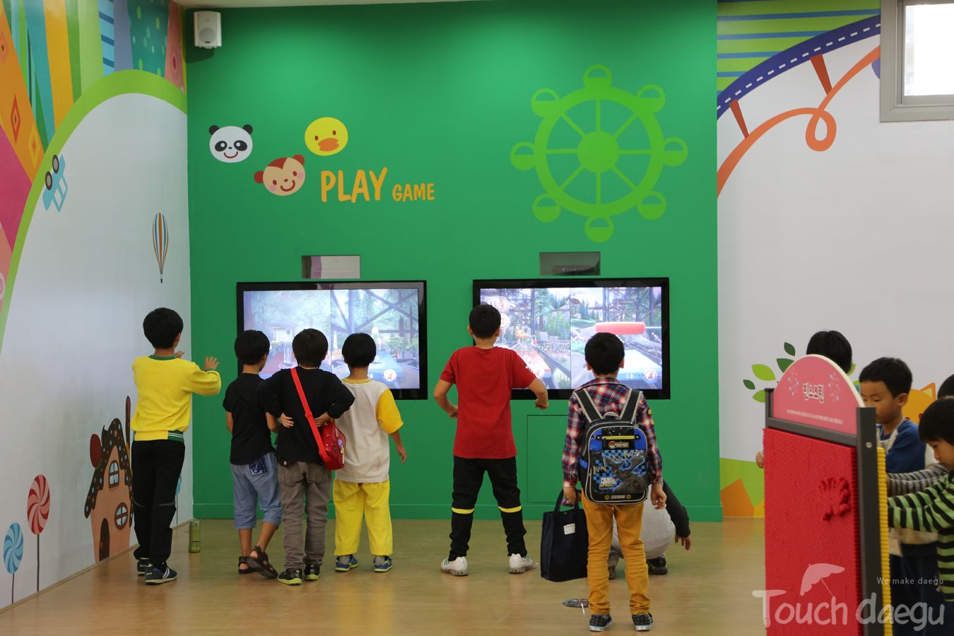 Children in Kids Space in Daegu Art Factory