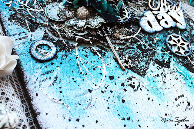 @marinasyskova #scrapbooking #canvas #mixedmedia #mixedmediascrapbooking #scrap