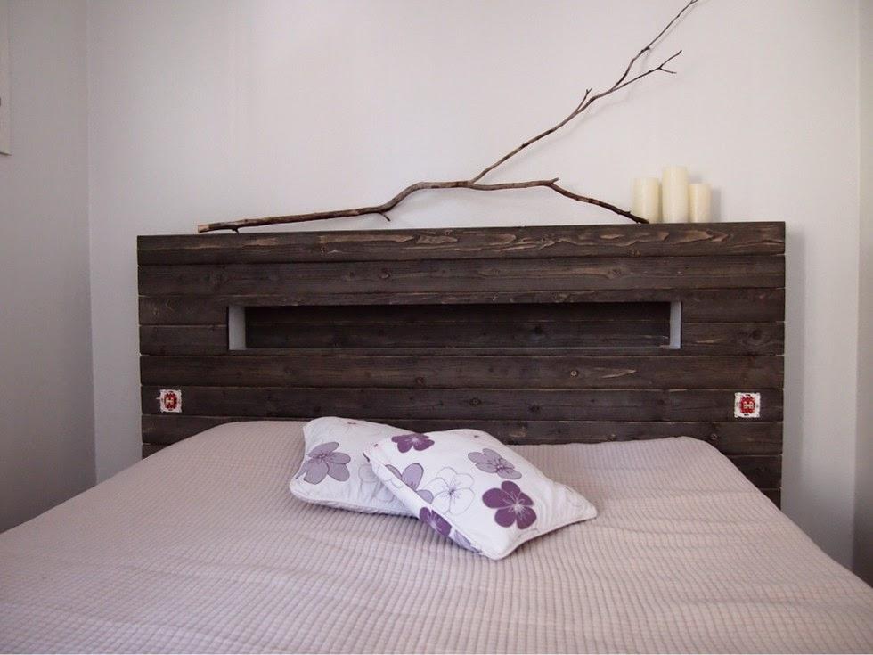 Makuuhuoneen sängynpäädyn innoittajana toimi tämä kuva.