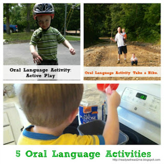 Oral language activities, oral language, ready set read