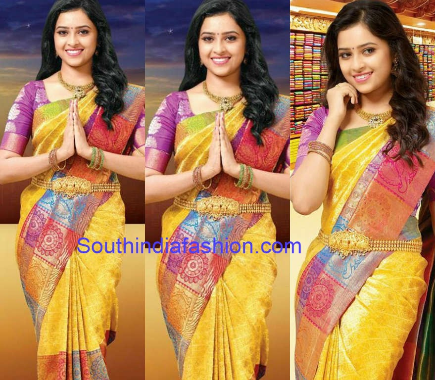 sri divya in chennai silks ad