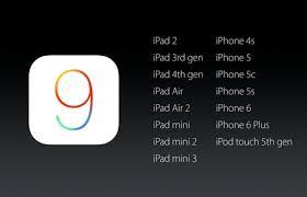 iPhone ios9 支援手機列表