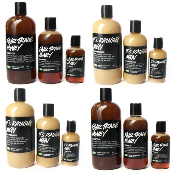 LUSH It's Raining Men Shower Gel & Fair Trade Honey Shampoo