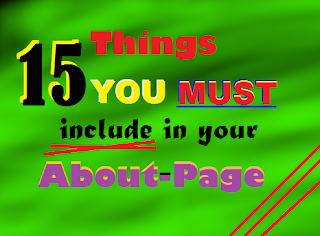 15 Things you must include in your About-Page front
