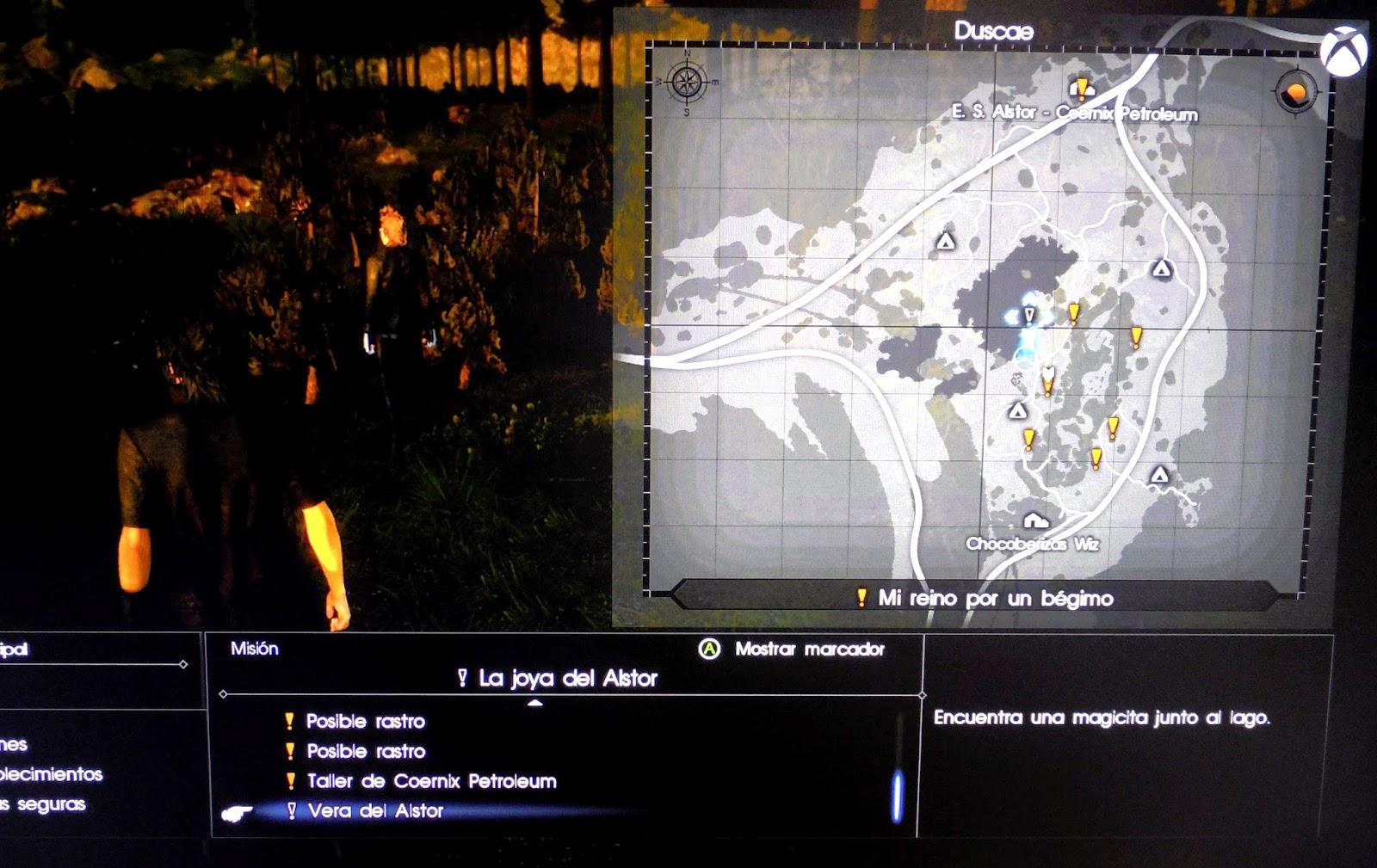 final fantasy xv mapa misiones