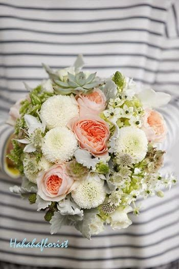 客人可跟著個人的心意可以做出個人如別不同的結婚花球