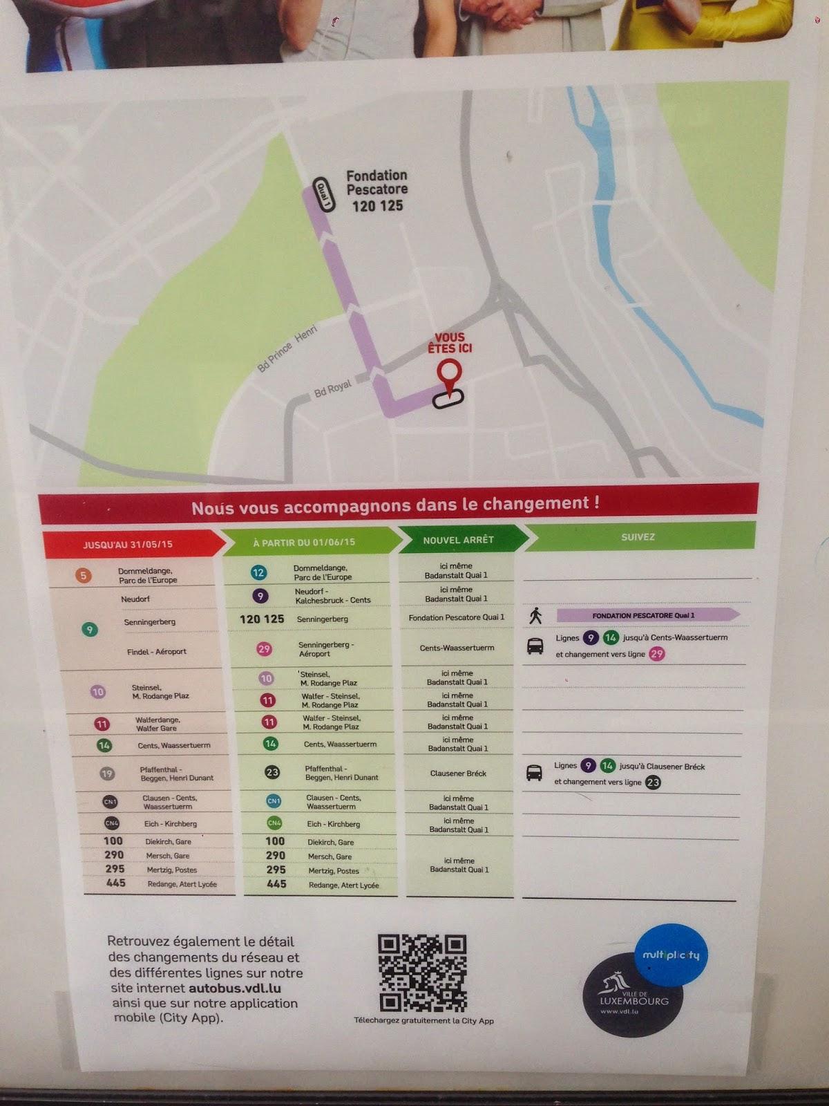 Nouveau r seau bus 1 juin 2015 badanstalt quai 1 et 2 for Badanstalt piscine luxembourg