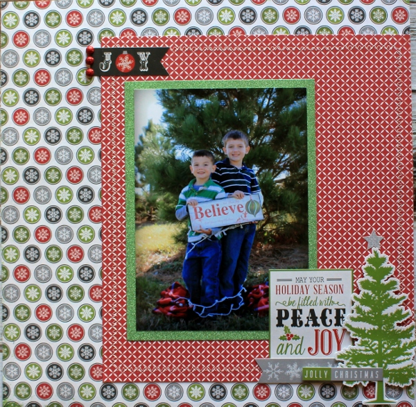 to add a little sparkle by matting the photo with pow glitter paper