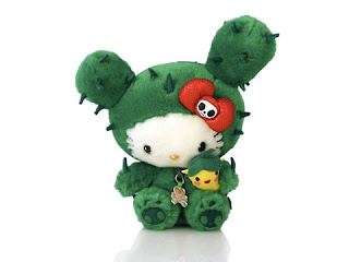 Hello Kitty soft plush toy in cactus costume