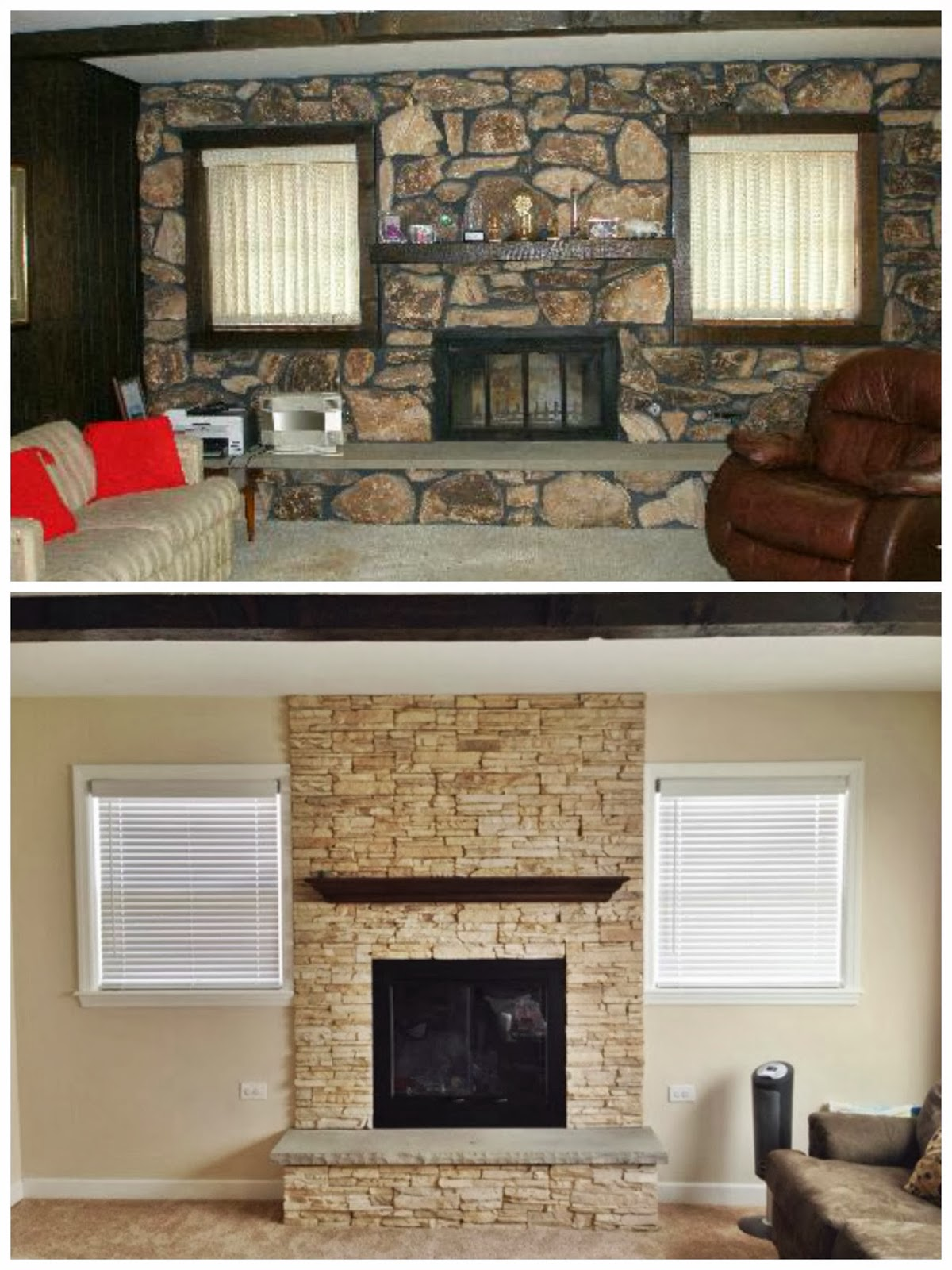 this happy life fireplace makeover