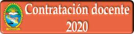 CONTRATACIÓN DOCENTE 2020