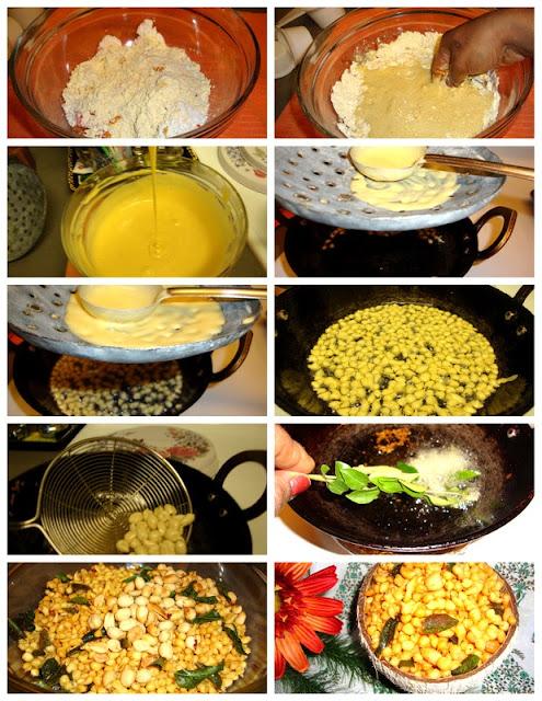image of Kara Boondhi Recipe / Spicy Boondhi Recipe / Boondi Recipe