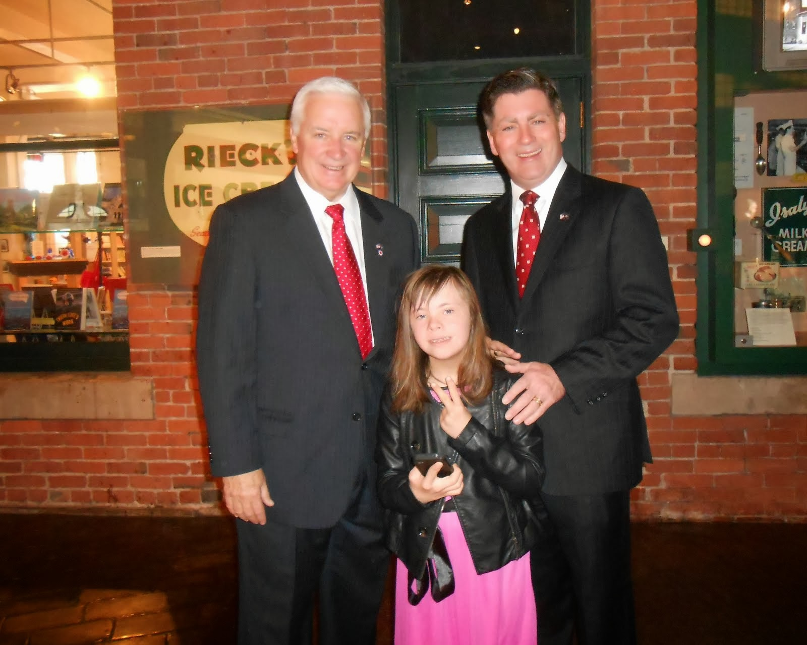 Chloe meets with PA Gov. Corbett and Lt. Gov. Cawley at Pittsburgh Event