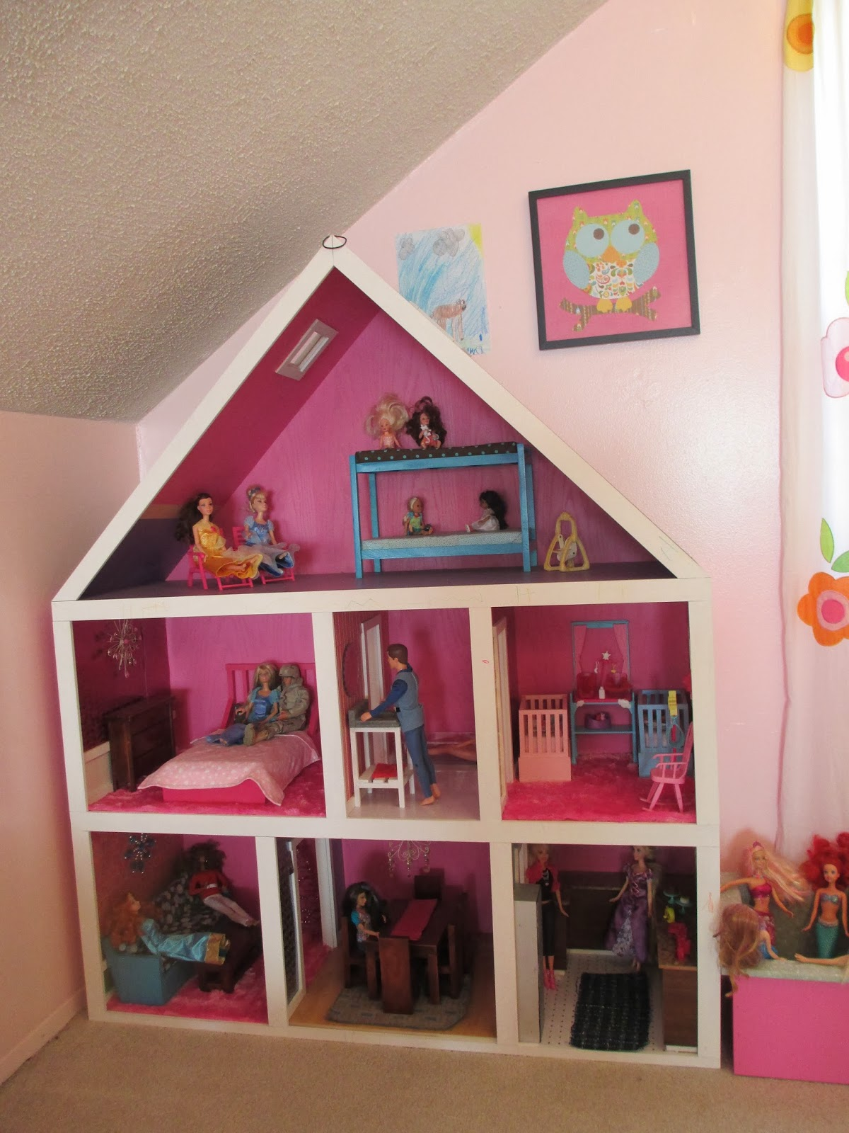 Design Homemade Doll Houses kruses workshop building for barbie on a budget workshop