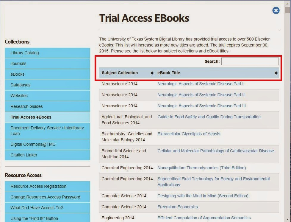 http://library.tmc.edu/resources/trial-access-ebooks/