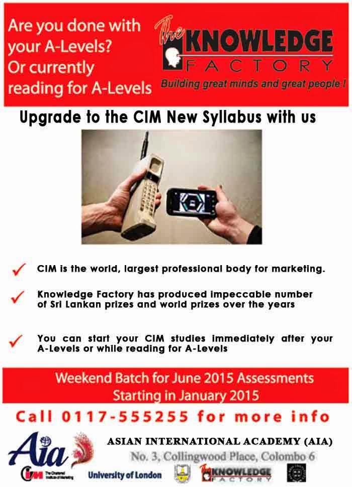 Start CIM after A Levels.