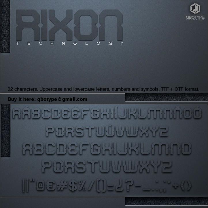 Tipografia Rixon