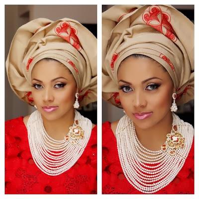 lola omotayo wedding make up
