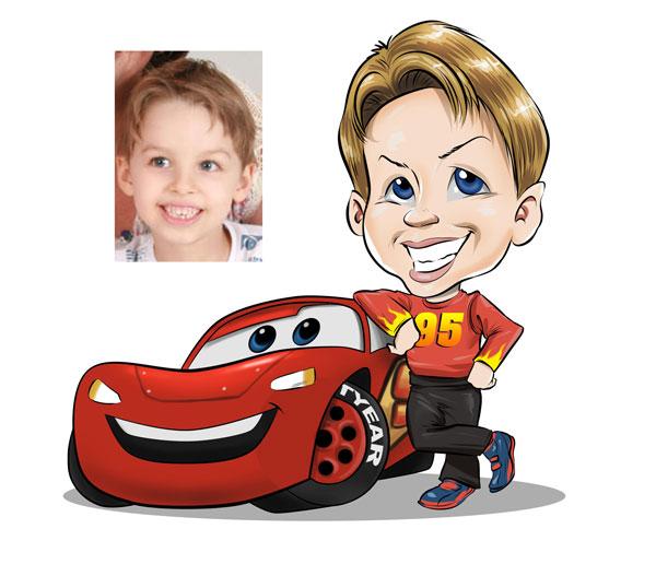 Zépa caricaturas: Caricatura infantil tema Carros