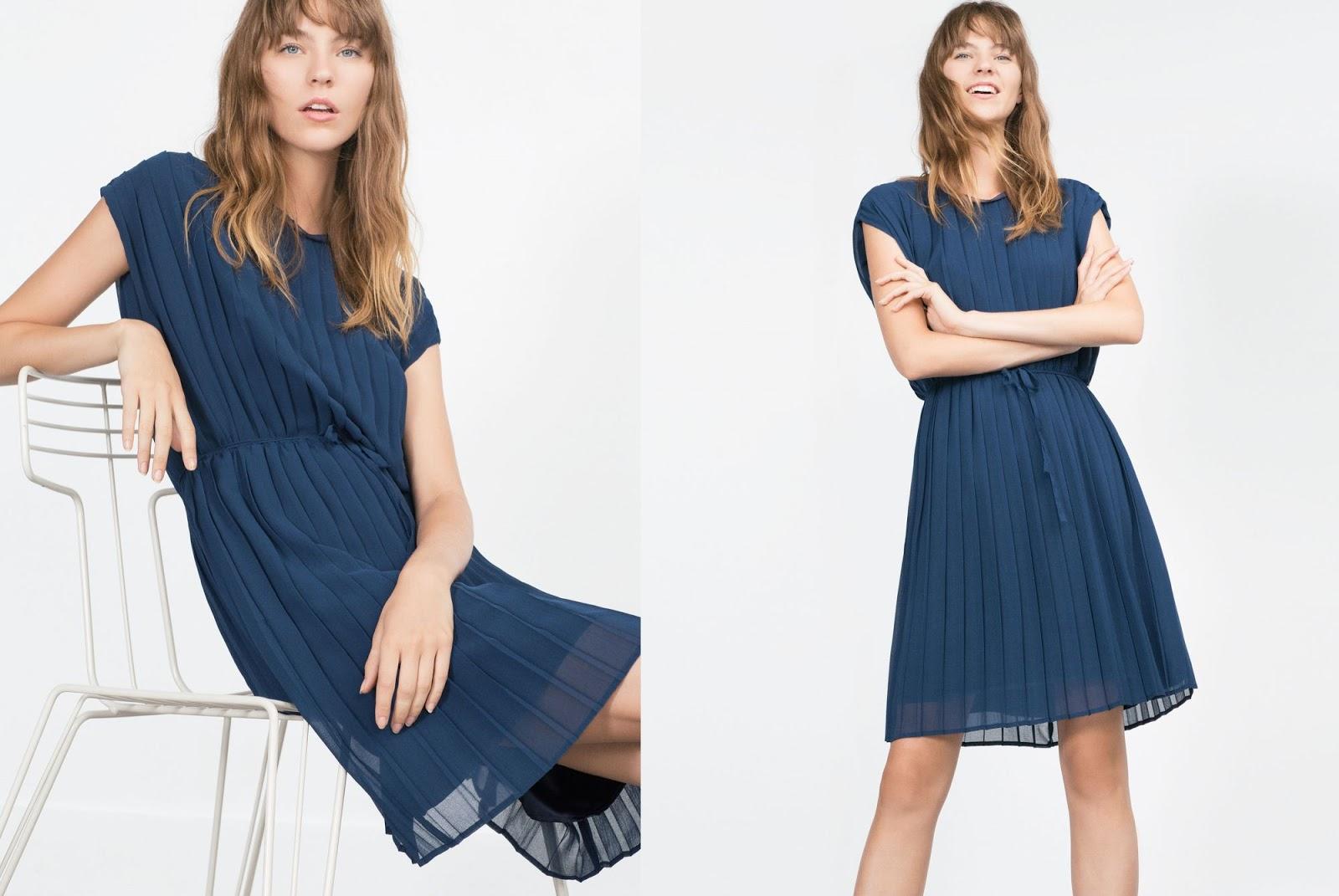 zara | sukienka | plisy