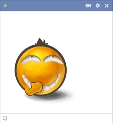 Secret Laugh Facebook Emoticon