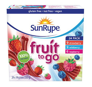 SUNRYPE- healthy, all natural fruit snacks for all ages