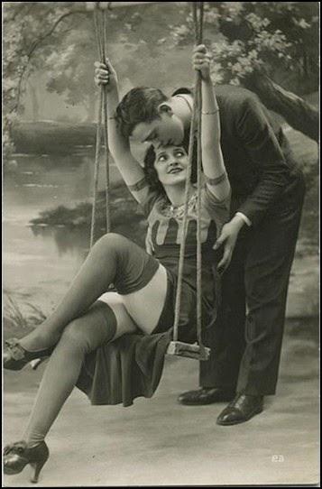 Fotografía antigua de pareja swinger