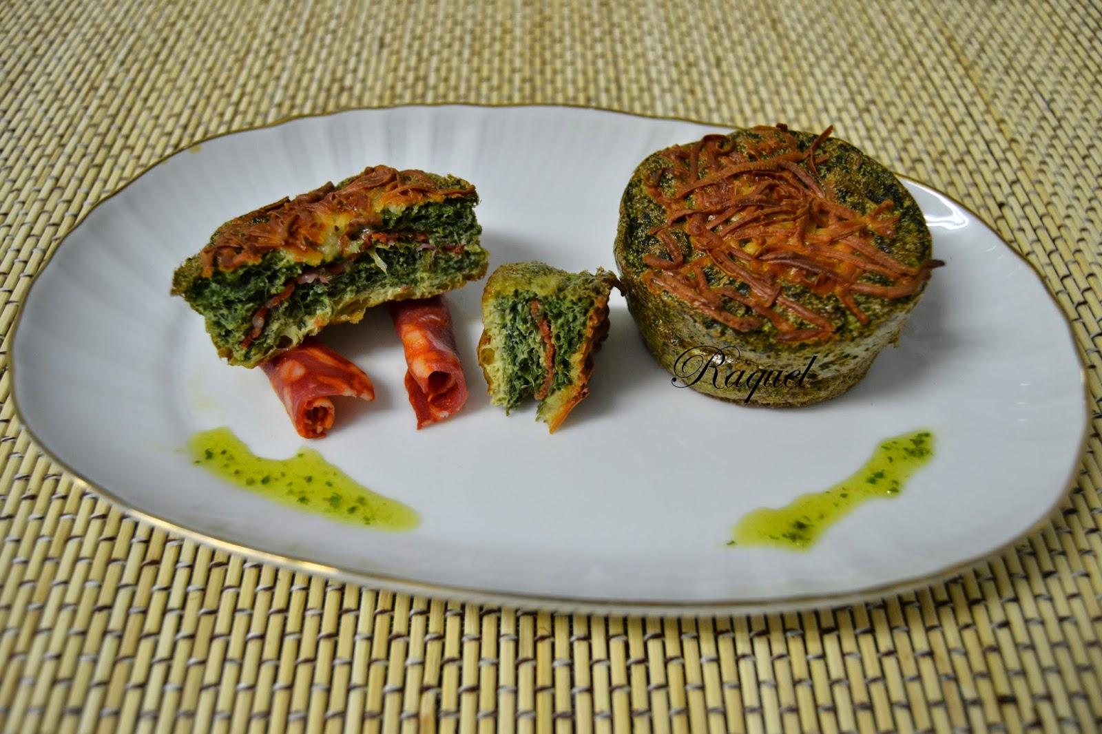 Pastelitos De Tortilla Con Acelga Y Chorizo