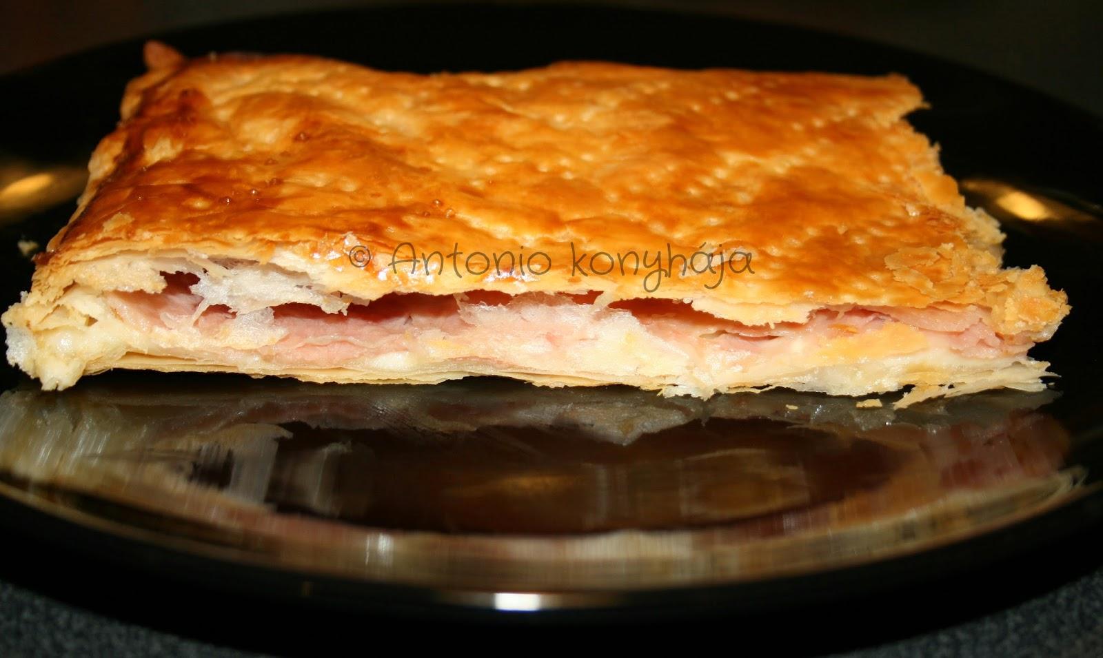 Levelés tészta Fontina sajttal és Sonkával töltve