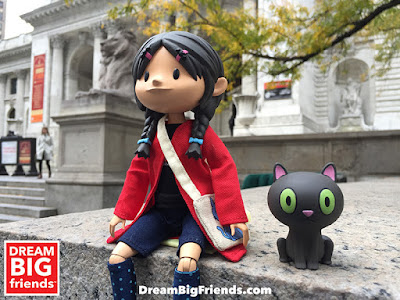 "Dream BIG Friends by David Horvath, Sun Min & Klim Kozinevich - Yuna 10"" Articulate Doll and Her Cat Kamata"