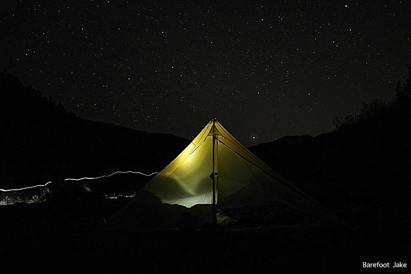stars at campsite
