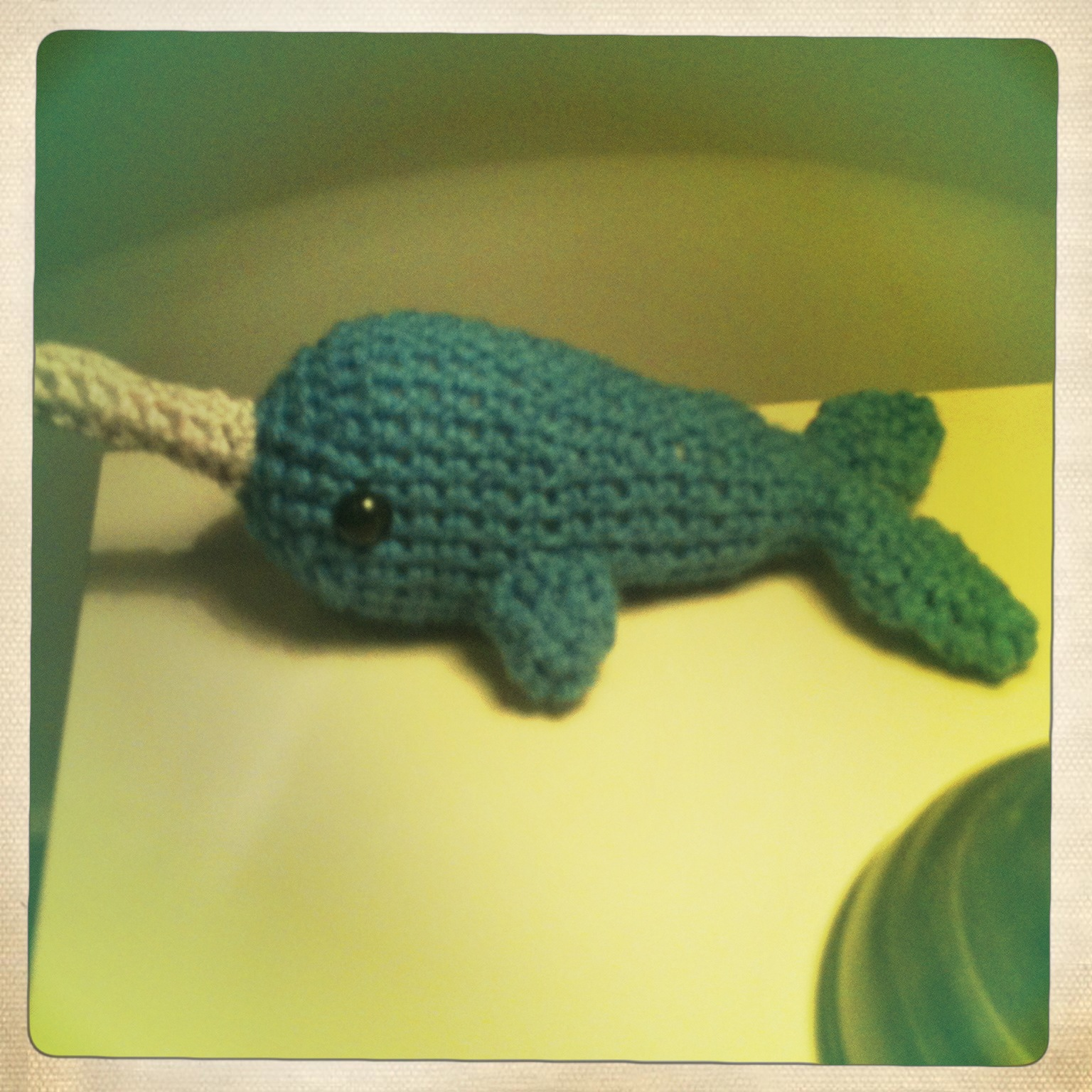 Amigurumi Zoo: Narwhal !! And mini whale :)